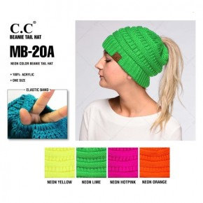 NEON CC Ponytail Beanie (pre order will ship this week)