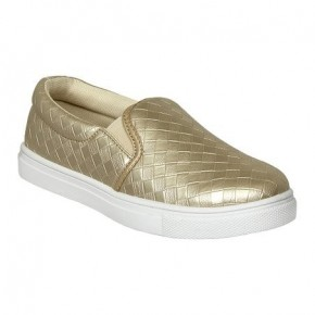 Brushed Gold Slip On Tennies