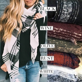 Blanket scarf non-mystery mystery bag! *Final Sale*
