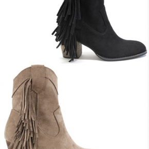 Tall Bootie with Fringe - Two Color Options