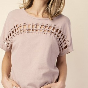 Braid Front Knit Top