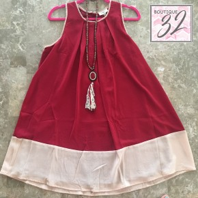 Game Day Chiffon Dress (Alabama/Auburn)