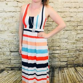 Summery Striped Tank Maxi Dress