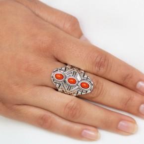 Mayan Motif - Orange r123