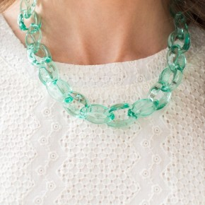 Green Acrylic Necklace