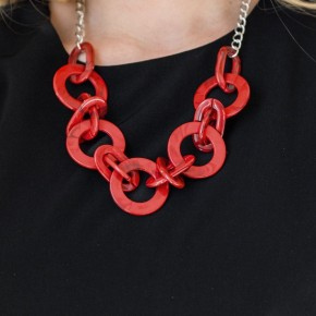 Red Acrylic Necklace