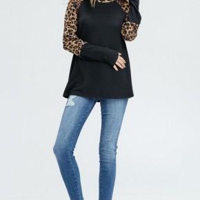 Cheetah Print Raglan Sleeve Top