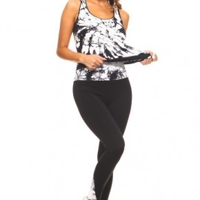 Women's Seamless Tie Dye Atheletic Wear Top