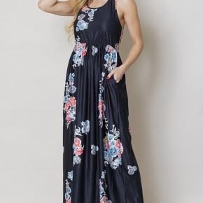 ALL OVER FLORAL PRINT MAXI DRESSES