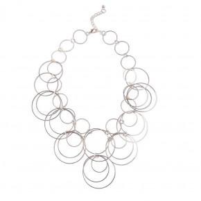 Rose Multi Circle Necklace
