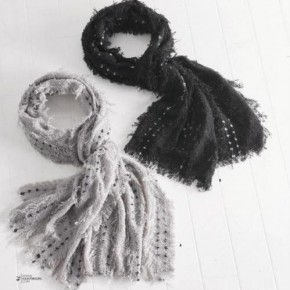 Black or Grey Tweed Eyelash Wrap