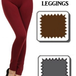 Full Length Seamless FLEECE Leggings with Tummy Control