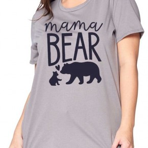 MAMA BEAR GRAPHIC SHORT SLEEVE TOP PLUS