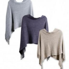 Ribbed Knit Poncho