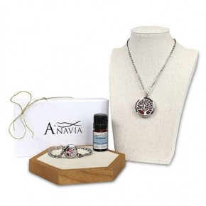 Tree of Life Aroma Necklace and Bracelet Gift Set