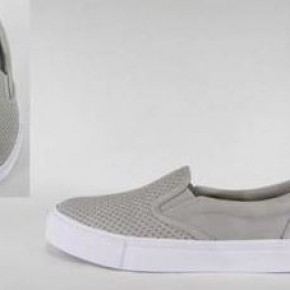 WOMENS PERFORATED SLIP ON SNEAKERS TRACER