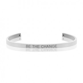 BE THE CHANGE MANTRA BANGLE