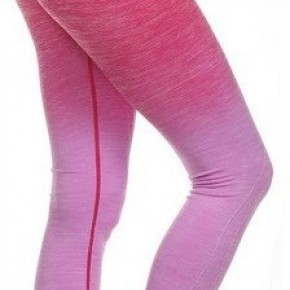 Dip Dye Ombre Athletic Leggings w/High Waist Band