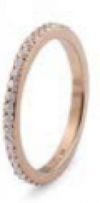 Qudo Interchangeable Rose Gold Eternity Spacer Ring