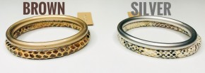 Snakeskin Double Band Bracelet