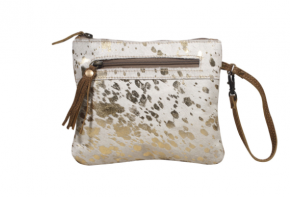 Myra Spotted Leather Pouch