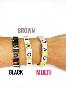 Love Block Stretch Bracelet