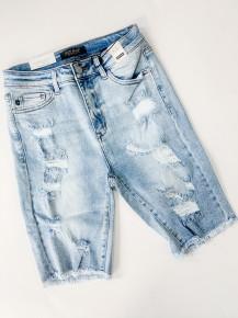 Judy Blue Cutoff Bermuda Distressed Shorts