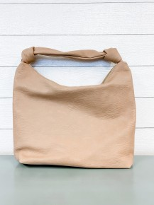 Knotted Strap Solid Tote