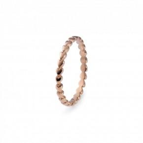Qudo Interchangeable Rose Gold Lipari Spacer Ring