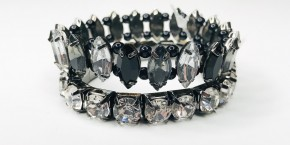 Black Double Stack Stretch Bracelet