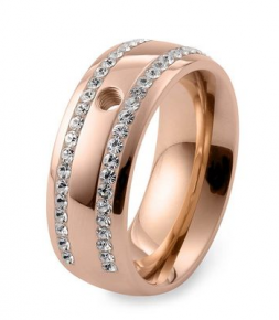 Qudo Interchangeable Rose Gold Lecce Ring