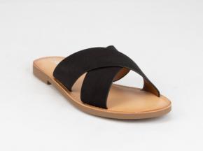 Soda Crisscross Avenue Slide Sandals