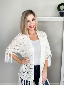 Knitted Open Shawl Cardigan