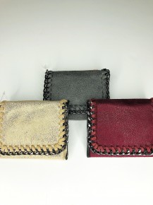 Chained Out Line Mini Wallet