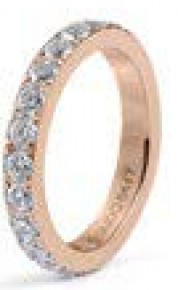 Qudo Interchangeable Rose Gold Eternity Big Spacer Ring