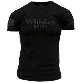 """Grunt Style """"Whiskey Helps"""" Shirt"""