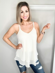 Adrienne Double Layer Double Strap Tank Top