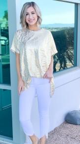 Judy Blue White Tulip Hem Skinny Jeans