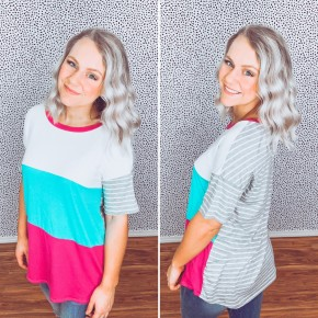 Kinsley Color Block Tee