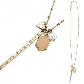 Long Multi Charm Necklace