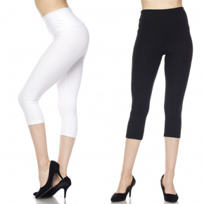 Solid Capri Leggings