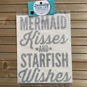 Mermaid Kissed and Starfish Wishes, Vinyl Black