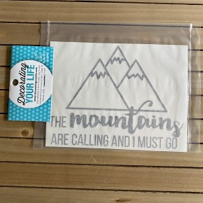 The Mountains Are Calling And I must Go, Vinyl Black