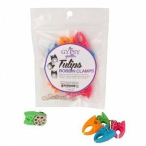 Gypsy Quilter Bobbin Tulip Clamps, 12 Piece Bag
