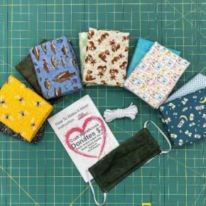 Critter Grouping Cotton Mask Kit - Makes 12 Masks