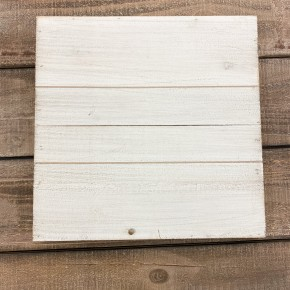 Wood Square Pallet Board, 12 x 12- White