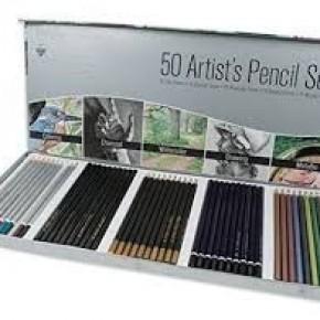 Artist Color Pencil Set, 50 Pencils