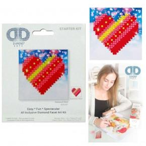 Diamond Dotz Facet Art Kit Starter Patchwork Heart