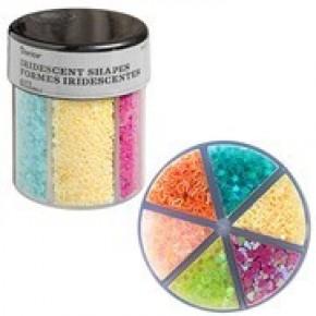 Darice® 6-Color Shaped Glitter Caddy: Bright Hearts & Stars
