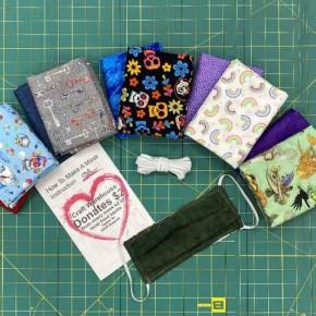 Novelty Grouping Cotton Mask Kit - Makes 12 Masks